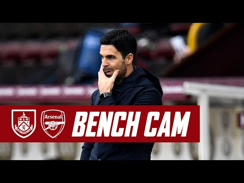 BENCH CAM | Burnley vs Arsenal (1-1) | Premier League highlights